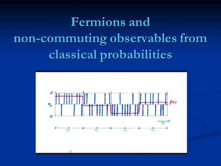 Fermions and non-commuting observables from classical probabilities.