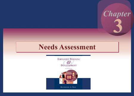 3 Chapter Needs Assessment.