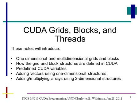 CUDA Grids, Blocks, and Threads
