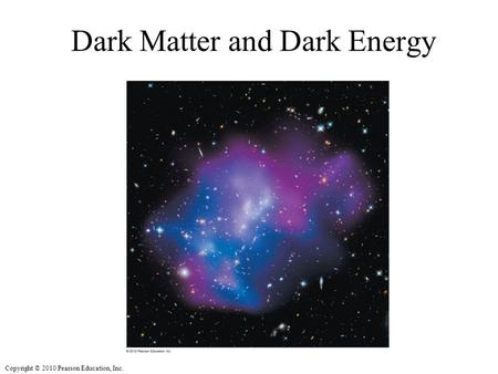 Copyright © 2010 Pearson Education, Inc. Dark Matter and Dark Energy.