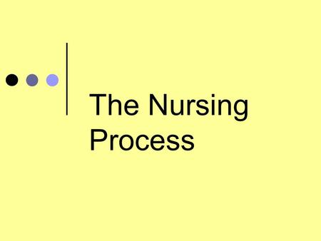 The Nursing Process Resources Andrea Ackermann, Mount St. Mary College, Critical-thinking-the-nursing- process 2001.