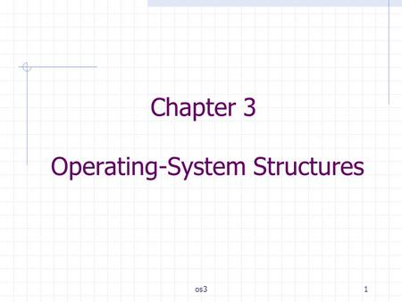 Os31 Chapter 3 Operating-System Structures. os32 Outlines System Components Operating System Services System Calls System Programs System Structure Virtual.