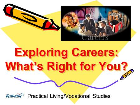 Exploring Careers: What's Right for You? Practical Living/Vocational Studies.