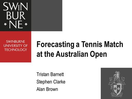 Forecasting a Tennis Match at the Australian Open
