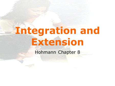 Www.itu.dk 1 Integration and Extension Hohmann Chapter 8.