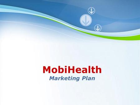 MobiHealth <strong>Marketing</strong> Plan Powerpoint Templates.