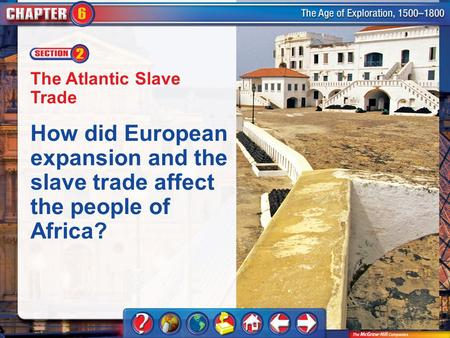 Chapter Intro 2 The Atlantic Slave Trade How did European expansion and the slave trade affect the people of Africa?