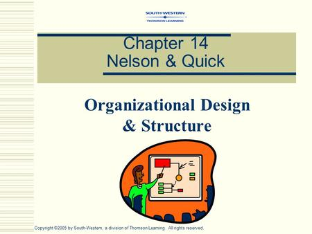 Chapter 14 Nelson & Quick Organizational Design & Structure Copyright ©2005 by South-Western, a division of Thomson Learning. All rights reserved.