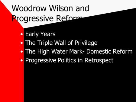 an overview of some progressive reforms This brief overview of some 20th-century reform efforts reveals that 2 major explanations for their defeat—the power of private interest groups to block reform and reformers' failure to inspire grassroots activism—are inextricably connected.