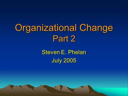 managing resistance to change in an organization pdf