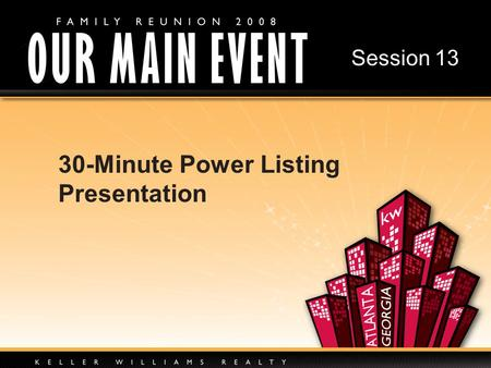 30-Minute Power Listing Presentation