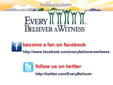 Become a fan on facebook  follow us on twitter