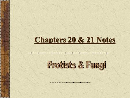 Chapters 20 & 21 Notes Kingdom Protista Where Do We Find Protists?  Protists live in water.