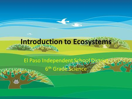 Introduction to Ecosystems