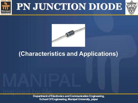 PN JUNCTION <strong>DIODE</strong> (Characteristics and Applications)
