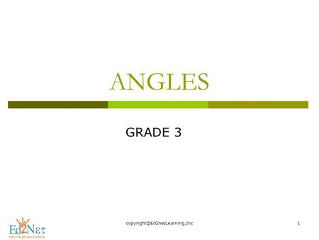 ANGLES GRADE 3. Hello, How are you doing? Today, we are going to start a new lesson on Angles.