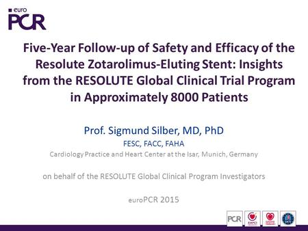 Five-Year Follow-up of Safety and Efficacy of the Resolute Zotarolimus-Eluting Stent: Insights from the RESOLUTE Global Clinical Trial Program in Approximately.