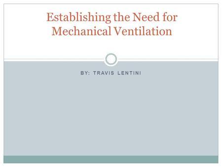 ventilators for interns ppt download
