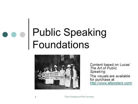 Public Speaking Foundations