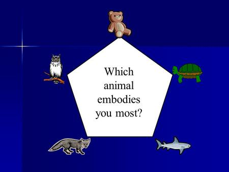 Which animal embodies you most?