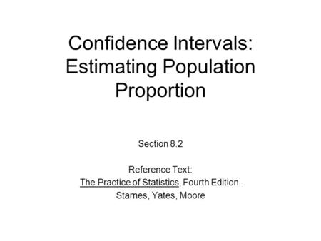 Confidence Intervals: Estimating Population Proportion
