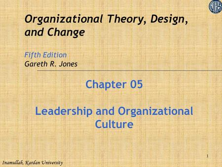 Leadership and Organizational