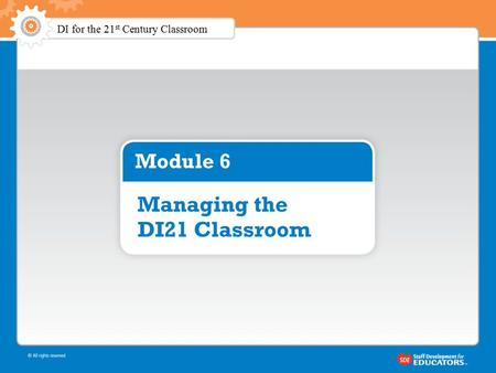 DI for the 21 st Century Classroom. Outline of the Two Days.