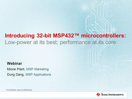 Webinar Mione Plant, MSP Marketing Dung Dang, MSP Applications