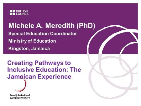 Creating Pathways to Inclusive Education: The Jamaican Experience