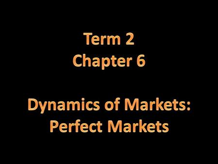Examination of the dynamics of perfect markets with the aid of cost and revenue curves. Perfect competition Individual business and industry Market structure.