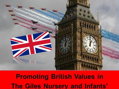 Promoting British Values in The Giles Nursery and Infants' School