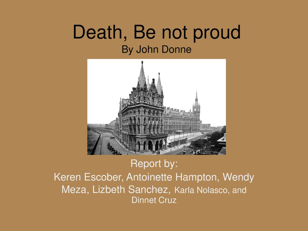 Death Be Not Proud By John Donne Ppt Download Theme