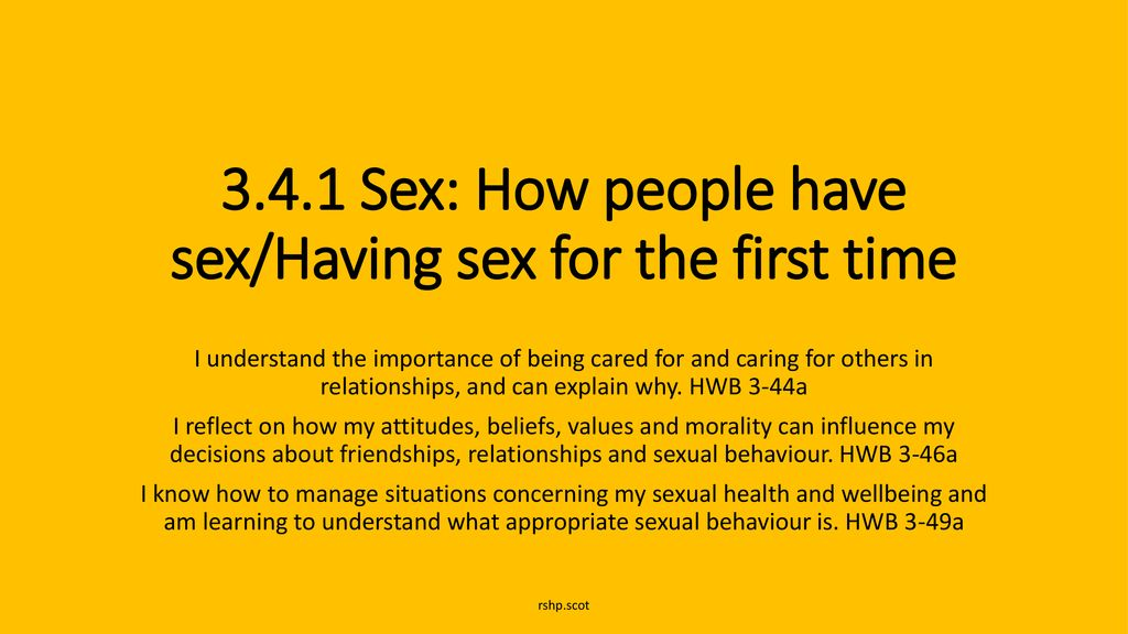 Have i when should sex first 11 Things