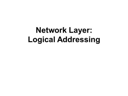 Network Layer: Logical Addressing. 4-1 IPv4 ADDRESSES An IPv4 address is a 32-bit address that uniquely and universally defines the connection of a device.