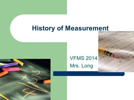 History of Measurement