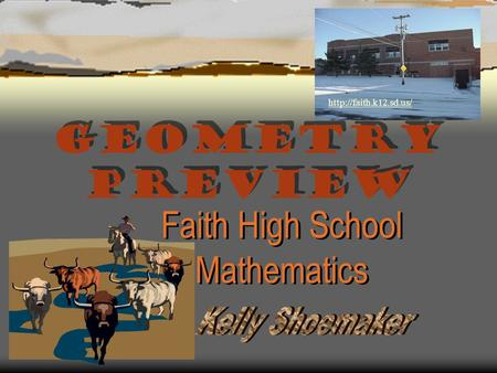 Geometry Preview Faith High School Mathematics