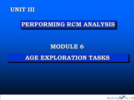 Unit III Module 6 - Developing Age Exploration Tasks