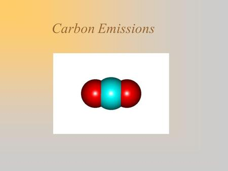 Carbon Emissions. Increasing atmospheric CO2 concentration Atmospheric increase = Emissions from fossil fuels + Net emissions from changes in land use.