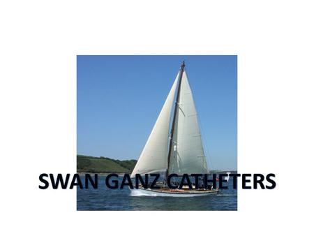 SWAN GANZ CATHETERS The flow-directed balloon-tipped pulmonary artery catheter (PAC) right heart catheter.