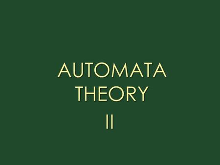 1.Defs. a)Finite Automaton: A Finite Automaton ( FA ) has finite set of 'states' ( Q={q 0, q 1, q 2, ….. ) and its 'control' moves from state to state.
