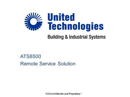 ATS8500 Remote Service Solution