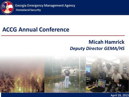 Georgia Emergency Management Agency Homeland Security