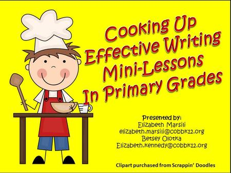 Cooking Up Effective Writing Mini-Lessons In Primary Grades