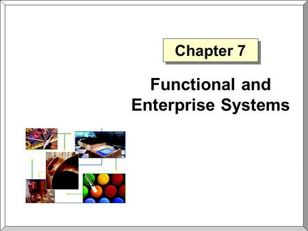 Chapter 7 Functional and Enterprise Systems. Chapter 7Slide 2 Customer Relationship Management  Customer Relationship Management The philosophy that.