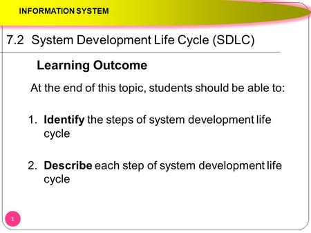 7.2 System Development Life Cycle (SDLC)