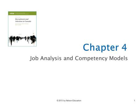 Job Analysis and Competency Models