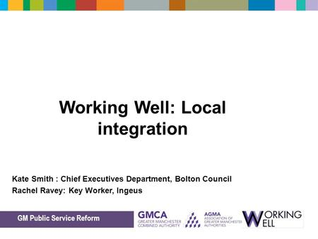 Working Well: Local integration