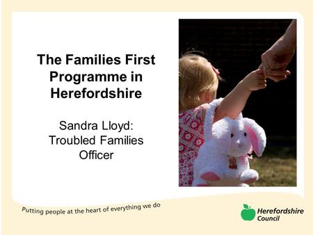 The Families First Programme in Herefordshire