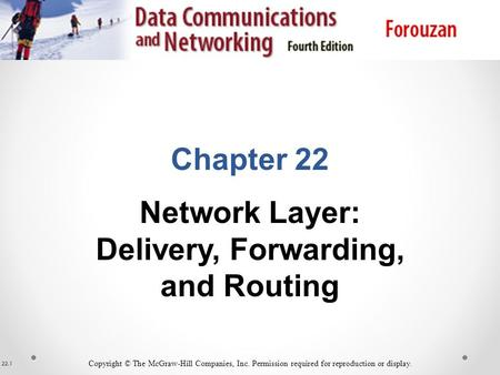 Delivery, Forwarding, and Routing