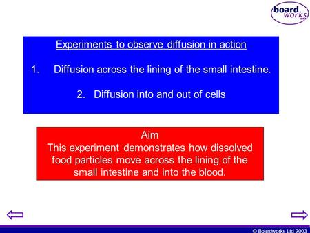 Experiments to observe diffusion in action